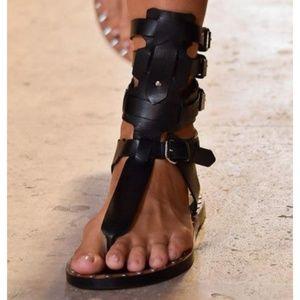 💥 ISABEL MARANT Leather Gladiator 37